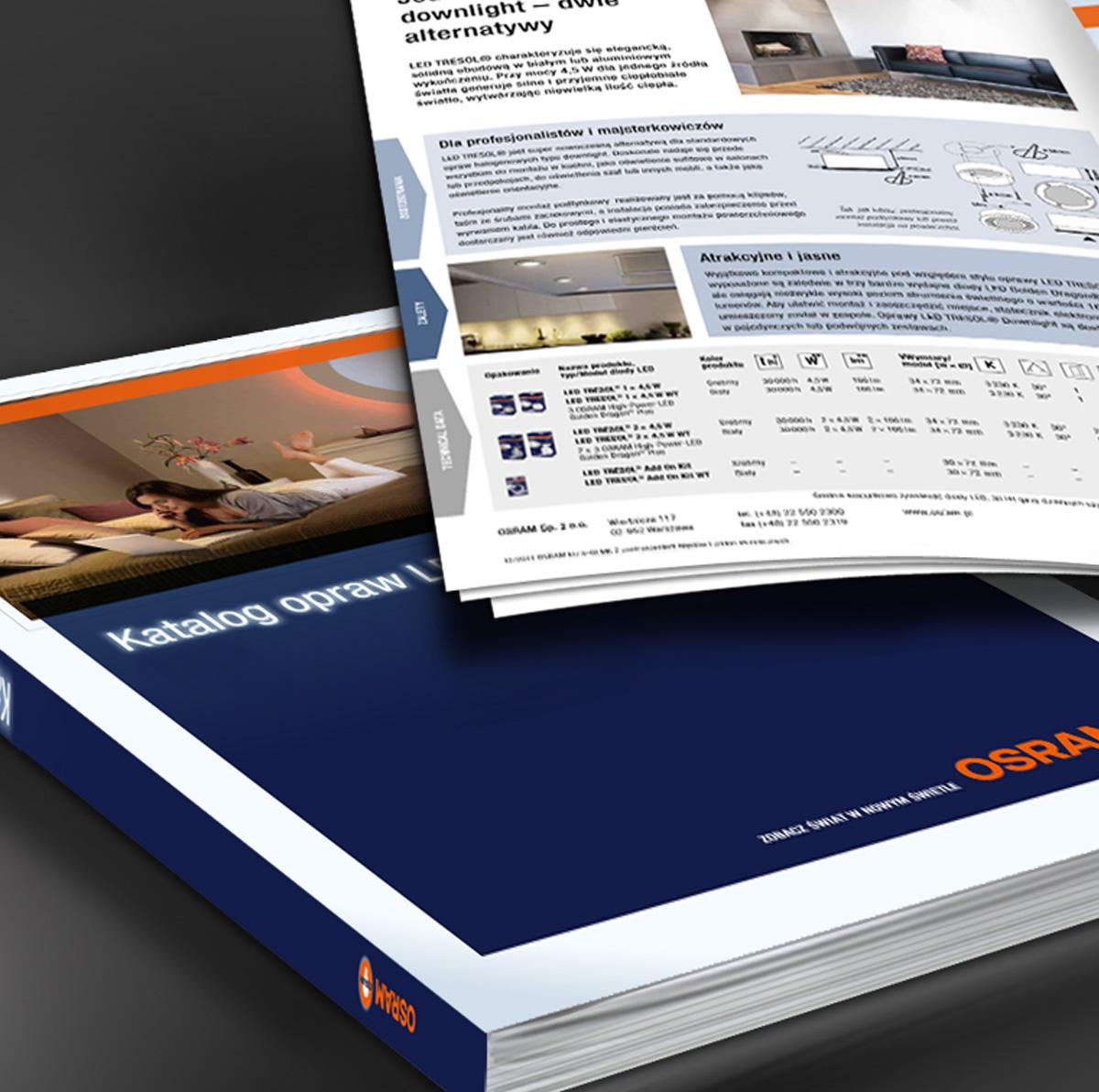Katalogi produktowe, raporty firmowe